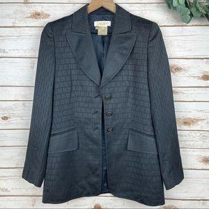 ESCADA Margaretha Ley Gray Jacket wool cotton 34